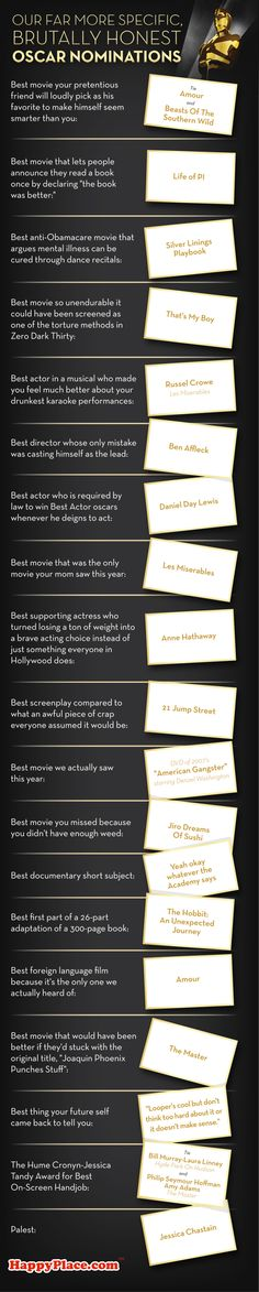 Our Brutally Honest Oscar Nominations | Happy Place