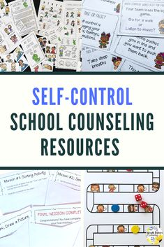 Self-control activities for kids. Everything you need to implement a full self-control curriculum including 2 self-control groups, self-control games, activities, and guidance lessons. Elementary School Counselor, School Counseling, Elementary Schools, Coping Skills, Life Skills, Student Self Assessment, Response To Intervention, Bullying Prevention, Guidance Lessons