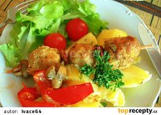 Potato Salad, Potatoes, Meat, Chicken, Ethnic Recipes, Food, Red Peppers, Potato, Essen