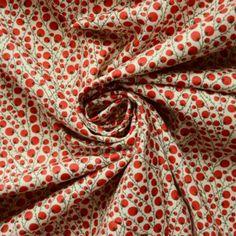 Pima Cotton Lawn - Cherry Berry 1950s Fashion Dresses, Cherry Dress, Vintage Dress Patterns, Surface Pattern, Pattern Fashion, Lawn, Fabric, Cotton, Berry