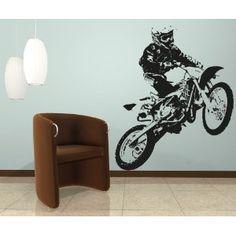 Motocross wall decal baby boys room