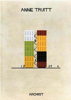 Galería - ARCHIST: Ilustraciones Famosas de Arte Reimaginadas como Arquitectura - 171