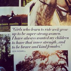 girls who learn to ride