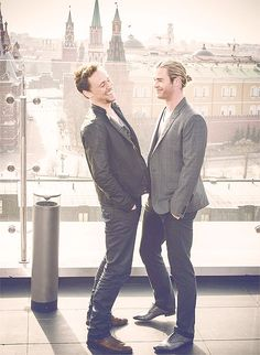 Tom and Chris.. and the bromance continues...Moscow Avengers promotion