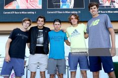 ATP Next Gen players Andrey Rublev of Russia, Taylor Fritz, Alex De. Indian Wells Tennis, Bnp, March 6, Tennis Players, The Man, Milan, Photographers, Russia, Greece