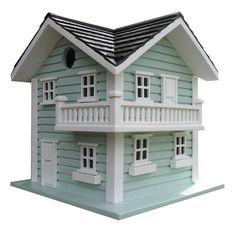 Beach Haven Bird House in Soft Blue