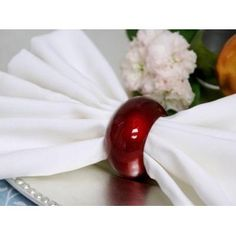 Acrylic Napkin Rings - Burgundy