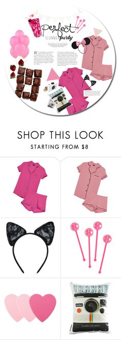 """""""♥Perfect slumber party"""" by urmyshelter ❤ liked on Polyvore featuring Cosabella, Maison Close, BaubleBar, Sephora Collection, Dot & Bo, Polaroid, Kershaw and slumberparty"""