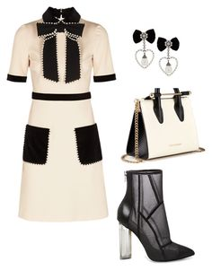 """""""chics"""" by mchlap on Polyvore featuring Gucci, Steve Madden and Strathberry Party Outfits, Cute Outfits, Off White Fashion, Winter Fashion, Women's Fashion, It's Coming, Ankle Heels, Marley Rose, Professional Women"""