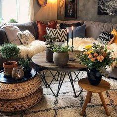 Boho Living Room, Home And Living, Living Room Decor, Small Living, Cozy Living, Modern Living, Living Area, Decor Room, Stylish Living Rooms