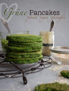 Grüne Pancakes mit Spinat *vegan *glutenfrei *pikant #lecker #leckerbox #lunchbox #glutenfrei #vegan #grün #spinat