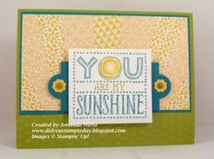 Sunshine Sunburst 1 by mandypandy - Cards and Paper Crafts at Splitcoaststampers