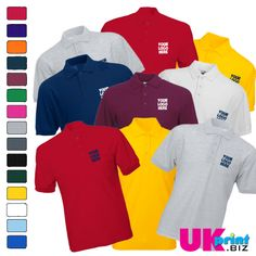 6 Embroidered polos for only £60 inc vat  Price inc all set up and breast embroidery can be logo or text  you can add a one colour back print to your polos for £3.50 per garment if you wish  Delivery is £7.50 to the UK and Ireland   to order please email hello@ukprint.biz or call 0845 544 2432 or 0131 564 1764    OFFER ENDS 8/06/14