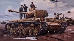 Kv-1 sovietico modificato con  canone kwk 40 l/48 e la torretta di un panzer IV, Questo carro prestò servizio nel reggimento 204 della 22. Panzer Division.