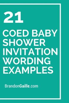 Jack And Jill Game. 21 Coed Baby Shower Invitation Wording Examples