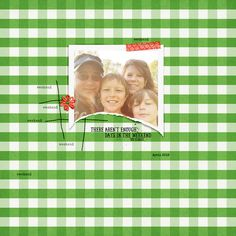 Quality Scrapbook Tutorials: Turn Striped Digi Paper into Plaid tutorial from Pink Reptile Designs