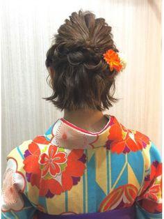 Hair Arrange, Yukata, Fashion Books, Girl Hairstyles, Hair Inspiration, My Hair, Short Hair Styles, Kimono, Hair Beauty