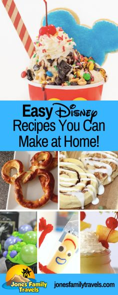 Love these Disney World and Disneyland travels inspired recipes you can make at home. Love these Disney World and Disneyland travels inspired recipes you can make at home. Disney Themed Food, Disney Inspired Food, Disney Snacks, Disney Diy, Disney Recipes, Disney At Home, Disney Activities, Disney Magic, Rice Krispie Treats