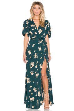 Privacy Please Plaza Kimono Dress in Sequoia | REVOLVE