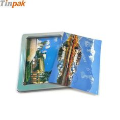 This A6 postcard collection tin box is with a rectangular shape clear window in the lid that you can read the postcards at anytime and you don't need to open the box. When you read the postcard, you will remember your best friends.