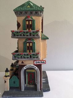 "Dept 56 Christmas in the City Series #5538-7 ""Little Italy"" Ristorante #dept56 #Christmas"