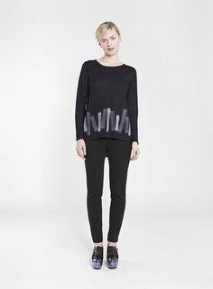 LIIN MARIMEKKO SWEATER BLACK Scandinavia Design, Marimekko, Black Sweaters, Fashion Bags, Fall Winter, Normcore, House Design, Pullover, Knitting