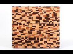 Making a chaotic pattern end grain cutting board - Tramas geometricas con madera encolada.