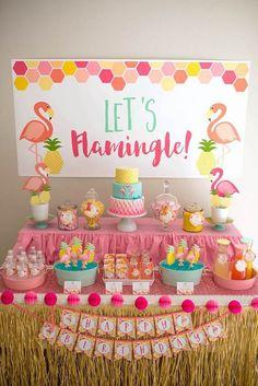 Decoração Flamingos 20 - Festa Flamingo: 50 Ideias Atuais Para Você se Inspirar!