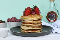 These Classic Father's Day Pancakes are timeless, easy to make and the recipe is adaptable Family Recipe Book, Real Maple Syrup, Create A Recipe, Non Stick Pan, Brunches, What's Cooking, What To Cook, Meals For The Week, Family Meals