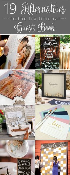 19 Alternatives to the Traditional #Wedding Guest Book  http://www.theweddingguru.ca/alternatives-to-the-traditional-guest-book/  #guestbook