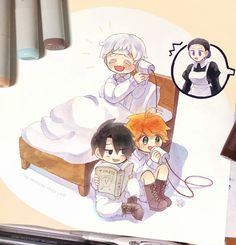 Doujinshi the promised neverland - 6 - Page 3 - Wattpad Fanarts Anime, Anime Chibi, Anime Manga, Anime Art, Norman, Desenhos Love, My Little Pony Games, Anime Triste, Familia Anime