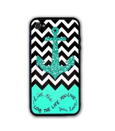 Chevron Anchor Rubber Silicone Case For iPhone X 8 7 6S SE 5 Personalized Custom #UnbrandedGeneric