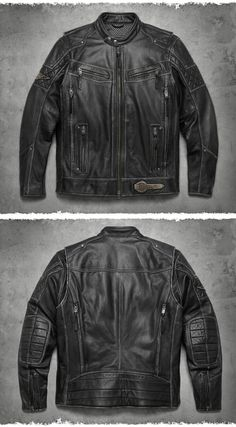 Put a little swagger in the saddle. Harley Davidson Gear, Harley Davidson Merchandise, Harley Gear, Harley Davidson Motorcycles, Biker Gear, Motorcycle Gear, Motorcycle Accessories, Cool Jackets, Men's Jackets