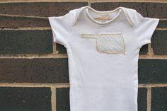 Oklahoma onesie state onesie oklahoma baby by MilaandBelle on Etsy, $20.00
