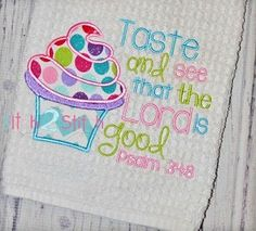 Cupcake Psalm Appique with Verse