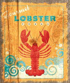 Lobster sign for kitchen.