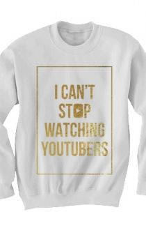 Can't Stop Sweatshirt (Gold Foil on White) Outerwear - Tyler Oakley Outerwear - Official Online Store on District Lines