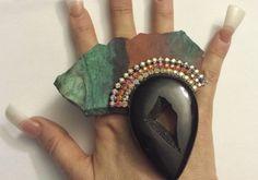 Big Bold Sonora Chrysocolla Stone Slab by KATROXWEARATTITUDE