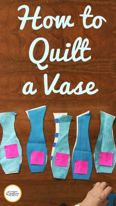 In this video, Rita Lynn shares her creative ideas and techniques for creating quilted vessels. Join Rita as she demystifies the techniques to design, quilt, and embellish your own stunning vessel. Quilting Tips, Quilting Tutorials, Quilting Projects, Art Quilting, Quilt Patterns, Sewing Patterns, Crochet Patterns, Vases, Textile Fiber Art