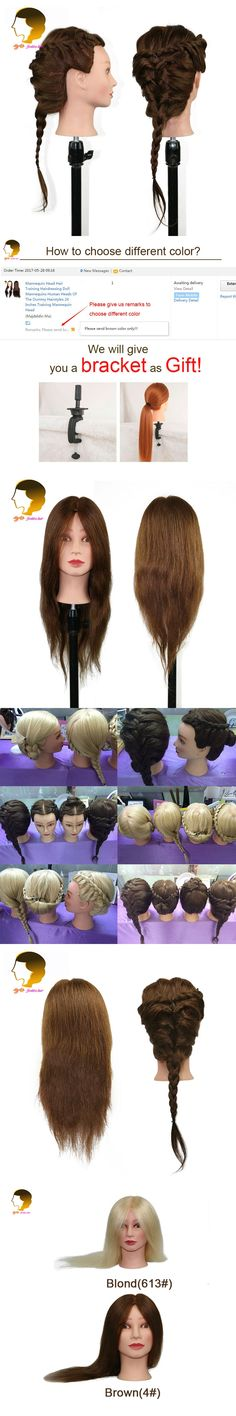 Hairdresser Mannequin Head With 100% Human Hair Doll For Hairdressing Dummy Mannequins Head Hairstyles Wig Mannequin Head