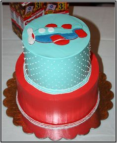 Kavita Airplane Cake   www.acakedream.com  #babyshower #airplane
