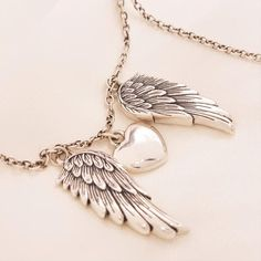 Have a look to this gentle My Heart Guided by Angels #pendant which is embraced between a pair of angel wings to signify the presence of angels around you. Keep memorial remaining of the bereaved person and use as talisman for achieving new dreams.  https://www.lindastars.com/collections/together-for-ever-collection/products/my-heart-belongs-to-an-angel