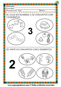50 atividades de matemática  educação infantil Math Equations, Professor, Learning Activities For Kids, Mother's Day Activities, Autism, Balance Sheet, Teacher