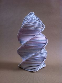 Sculpture Ideas, using paper straws I have been learning the art of weaving Corn Dolly Style to create these twisting structures which will ...