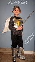 Michael Costume - Catholic Inspired or St. George with dragon Saint Costume, Eve Costume, Diy Costumes, Knight Costume, Costume Ideas, Catholic Crafts, Catholic Kids, Catholic Saints, Catholic School