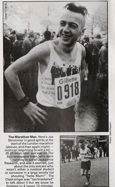 Joe Strummer from THE CLASH running the London Marathon