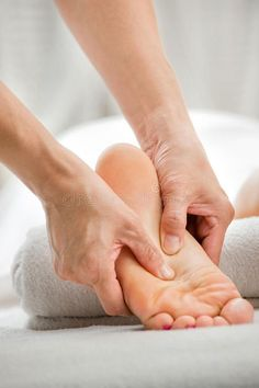 Photo about A foot massage being carried out in a spa by a masseuse. Image of white, beauty, female - 12170137 Massage Images, Massage Pictures, Hand Massage, Facial Massage, Massage Oil, Massage Therapy Rooms, Spa Therapy, Massage Marketing, Massage Business