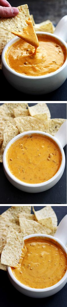 Copycat Chili's Famous Queso! This is so easy to make right in the crockpot and is the hit of the party!