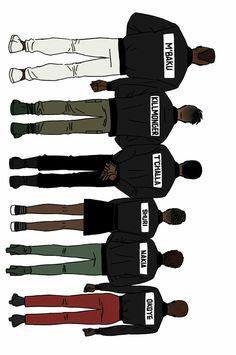 Black Panther || M'Baku, Erik Killmonger, T'challa, Shuri, Nakia & Okoye || Cr: 곰팡