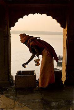 Water of life, Benares, India